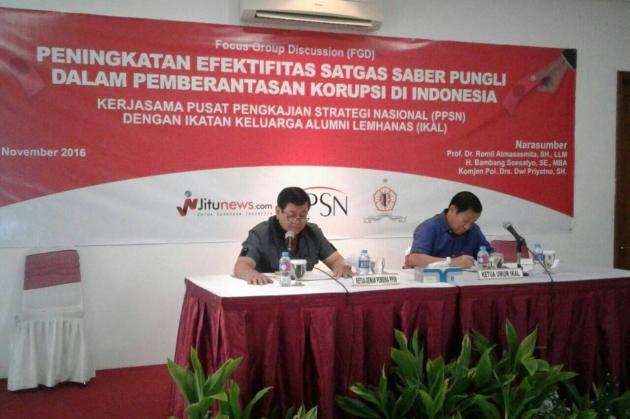 PPSN Bekerja Sama dengan IKAL Selenggarakan FGD Saber Pungli