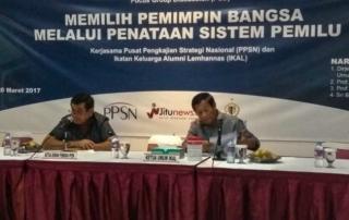 PPSN Bersama IKAL Gelar FGD Penataan Sistem Pemilu di Indonesia