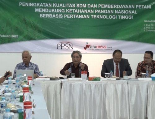 Dukung Ketahanan Pangan Berbasis Pertanian Teknologi Tinggi, PPSN Gelar FGD
